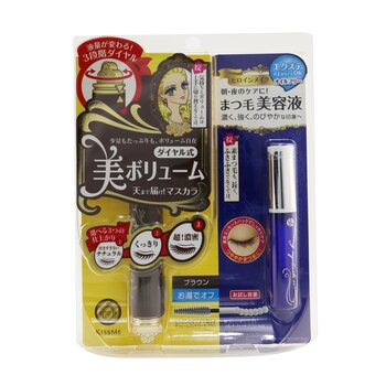 Heroine Make SP Heroine Make Volume Control Mascara & Watering Eyelash Serum Set - # 02 Brown (2pcs)