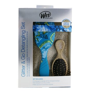 Pro Glitter and Go Detangling Kit - #  Gold (3pcs)