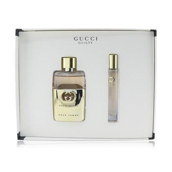 Guilty Pour Femme Coffret: Eau De Parfum Spray 50ml/1.6oz + Roller Ball 7.4ml/0.25oz (2pcs)