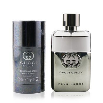 Guilty Pour Homme Coffret: Eau De Toilette Spray 50ml/1.6oz + Deodorant Stick 75ml/2.4oz (2pcs)