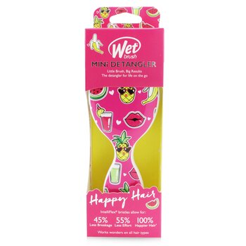 Mini Detangler Happy Hair - # Smiley Pineapple (1pc)