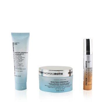 Hydration Glow-Up Kit: 1x Water Drench Cleanser 30ml + 1x Water Drench Moisturizer 50ml + 1x Potent-C Power Serum 10ml (3pcs)
