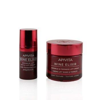 Bee Young Set: Wine Elixir Wrinkle & Firmness Lift Cream 50ml+ Wine Elixir Wrinkle Lift Eye & Lip Cream 15ml (2pcs)