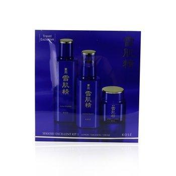 Sekkisei Excellent Kit I: Lotion Excellent 200ml + Emulsion Excellent 140ml + Cream Excellent 50g (3pcs)