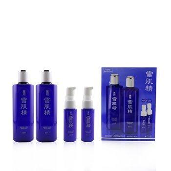 Medicated Sekkisei Lotion Duo Set: 2x Medicated Sekkisei 360ml + 2x Sekkisei Emulsion 20ml (4pcs)