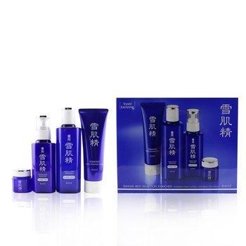 Sekkisei Best Selection Enriched Set: Washing Foam 130g+Enriched Lotion 200ml+Enriched Emulsion 140ml+Eye Cream 20g (4pcs)