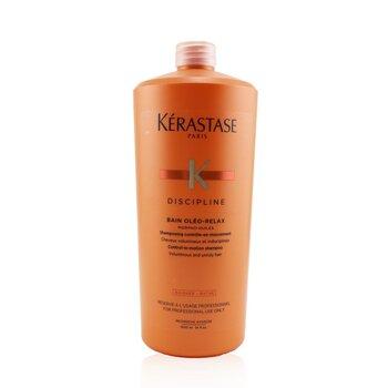 Discipline Bain Oleo-Relax Control-In-Motion Shampoo (Voluminous and Unruly Hair) (1000ml/34oz)