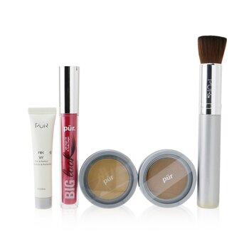 Best Sellers Kit (5 Piece Beauty To Go Collection) (1x Powder, 1x Primer, 1x Bronzer, 1x Mascara, 1x Brush) - # Light Tan (5pcs)