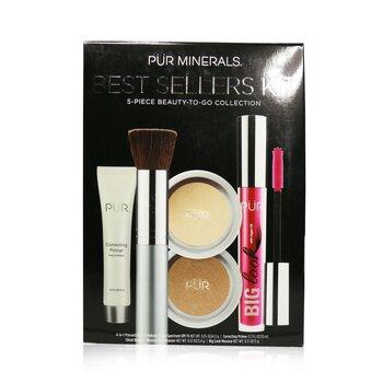 Best Sellers Kit (5 Piece Beauty To Go Collection) (1x Primer, 1x Powder, 1x Bronzer, 1x Mascara, 1x Brush) - # Tan (5pcs)