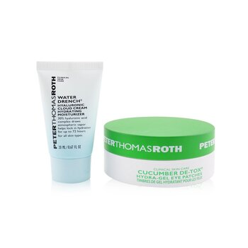 Drench & De-Tox 2-Piece Kit: Hydrating Moisturizer 20ml + Cucumber Eye Patches 15pairs (2pcs)