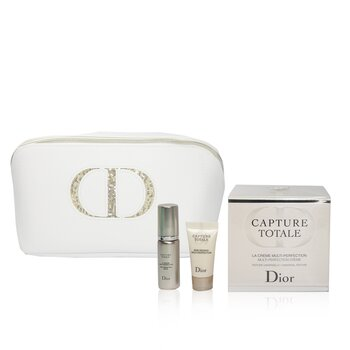 Capture Totale Multi-Perfection Coffret: Creme 60ml + Serum 7ml + Eye Treatment 5ml + Bag (3pcs+1bag)