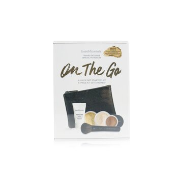 On The Go 6 Piece Get Started Kit (1x Primer, 1x Foundation 1x Mineral Veil, 1x All Over Face Color...) - # Medium Beige 12 (5pcs+1clutch)