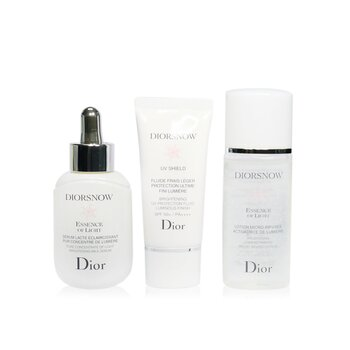 Diorsnow Brightening Collection: Milk Serum + Micro-Infused Lotion + UV Protection Fluid SPF50 + Pouch (Box Slightly Damaged) (3pcs+1pouch)