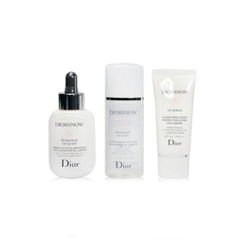 Diorsnow Brightening Collection: Milk Serum 30ml+ Micro-Infused Lotion 50ml+ UV Protection Fluid SPF50 30ml+ Pouch (Unboxed) (3pcs+1pouch)