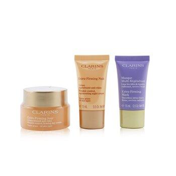 Extra-Firming Collection: Day Cream 50ml/1.7oz + Night Cream 15ml/0.5oz + Mask 15ml/0.5oz + Bag (3pcs+1bag)