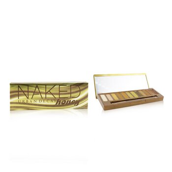 Naked Honey Eyeshadow Palette (12x Eyeshadow, 1x Doubled Ended Smudger/ Tapered Crease Brush) (14g/0.49oz)