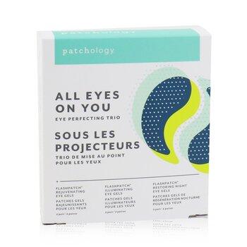 FlashPatch Eye Gels - All Eyes On You Eye Perfecting Trio Kit: Rejuvenating, Illuminating, Restoring (6pairs)
