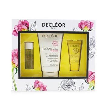 Certified Organic Soothing Box: Comfort 2 In 1 Cream & Mask 50ml+Comfort Oil-Serum 5ml+Comfort Night Balm 2.5ml (3pcs)