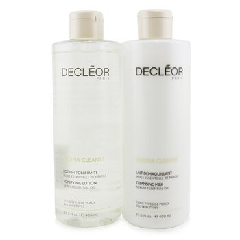 Aroma Cleanse Prep & Finish Cleansing Duo: Essential Cleansing Milk 400ml+ Essential Tonifying Lotion 400ml (2pcs)