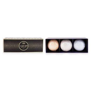 3 Bath Balls With Dead Sea Salts (Patchouli Lavender Vanilla, Peach Honey, Shiny Spice) (3pcs)