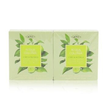Acqua Colonia Lime & Nutmeg Aroma Soap Duo (2x100g/3.5oz)
