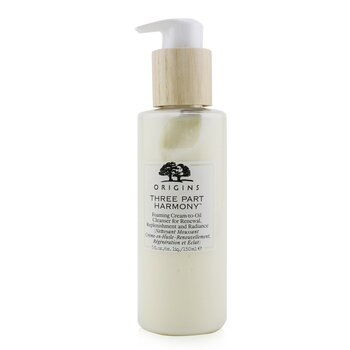 Three Part Harmony Foaming Cream-To-Oil Cleanser For Renewal, Replenishment & Radiance (150ml/5oz)