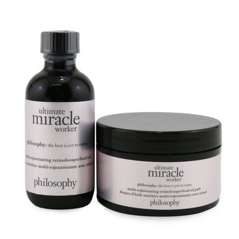 Ultimate Miracle Worker Multi-Rejuvenating Retinol+Superfood Oil & Pads (Box Slightly Damaged) (60pads)