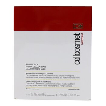Cellcosmet Swiss Biotech CellBrightening Mask (Exp. Date: 10/2020) (5 Sachets)