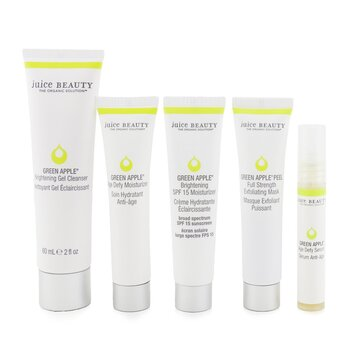 Brightening Solutions Set: 30 Day Discovery Kit For Brightening & Correcting Uneven Skin Tone: Cleanser + Serum + Peel + Brightening Moisturizer SPF 15 + Age Defy Moisturizer (5pcs)