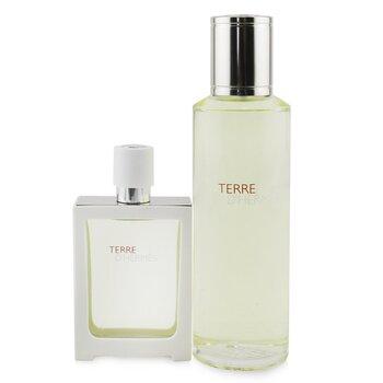 Terre D'Hermes Eau Tres Fraiche Coffret: Eau De Toilette Spray 30ml/1oz + Refill 125ml/4.2oz (2pcs)