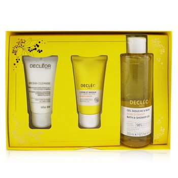 Infinite Soothing Rose Damascena Skincare Set: Aroma Cleanse Cleansing Mousse+ Day Cream & Mask+ Bath & Shower Gel (3pcs)