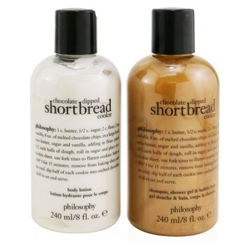 Chocolate-Dipped Shortbread Cookie 2-Pieces Gift Set: Shampoo, Shower Gel & Bubble Bath 240ml + Body Lotion 240ml (2x240ml/8oz)