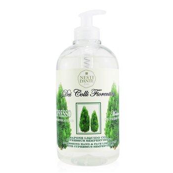 Dei Colli Fiorentini Refreshing Hand & Face Liquid Soap - Cypress Tree (500ml/16.9oz)