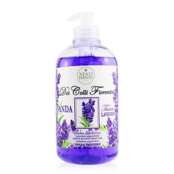 Dei Colli Fiorentini Hand & Face Soap With Lavandula Angustifolia - Tuscan Lavender (500ml/16.9oz)