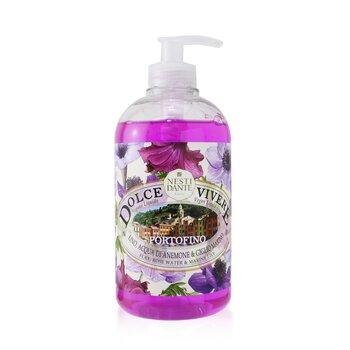 Dolce Vivere Vegan Liquid Soap - Portofino -Flax, Rose Water & Marine Lily (500ml/16.9oz)