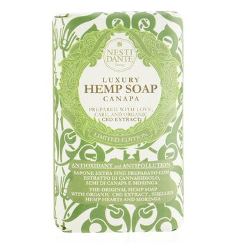 Luxury Hemp Soap With Organic CBD Extract, Shelled Hemp Hearts & Moringa (250ml/8.8oz)