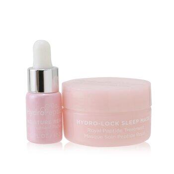 Dew You Mega Minis Kit: Moisture Reset Phytonutrient Facial Oil 0.1 oz + Hydro-Lock Sleep Mask 0.5oz (2pcs)