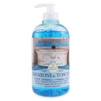 Emozioni in Toscana Hand & Face Soap With Hamamelis Virginiana - Thermal Water (500ml/16.9oz)