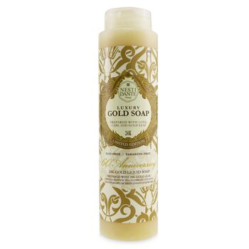 60 Anniversary Luxury Gold Soap With Gold Leaf - 24K Gold Liquid Soap (Shower Gel) (Limited Edition) (300ml/10.2oz)