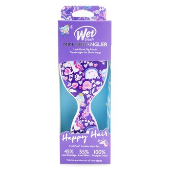 Mini Detangler Happy Hair - # Mermaids & Unicorns (1pc)