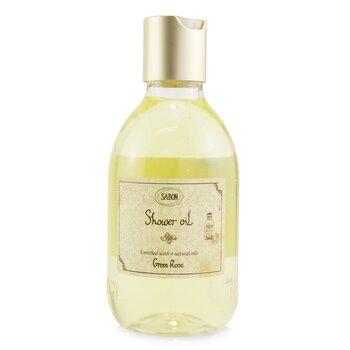 Shower Oil - Green Rose (Plastic Bottle) (300ml/10.5oz)