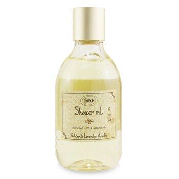 Shower Oil - Patchouli Lanvender Vanilla (Plastic Bottle) (300ml/10.5oz)
