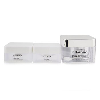Perfect Skin Ritual Set: 1x NCEF-Reverse Supreme Multi-Correction Cream - 50ml/1.7oz + 1x Meso-Mask Smoothing Radiance Mask - 15ml/0.5oz + 1x Sleep & Lift Ultra-Lifting Night Cream - 15ml/0.5oz (3pcs)