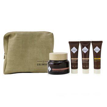 The Potion Of Radiance Set With Pouch: 1x Hydra Brightening - Long Lasting Moisture Cream SPF 15 - 50ml/1.7oz + 1x Hydra Brightening - Perfecting Light Emulsion SPF 15 - 10ml/0.3oz + 1x Hydra Brightening - Pure Radiance Rich Cleansing Milk - 10ml/0.3oz + 1x Age Recover - Replumping Rich Mask ... (4pcs+1bag)