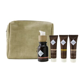 The Potion Of Perfection Set With Pouch: 1x Hydra Brightening - Firming Serum - 30ml/1oz + 1x Hydra Brightening Pure Radiance Rich Cleansing Milk - 10ml/0.3oz + 1x Hydra Brightening Perfecting Light Emulsion SPF 15 - 10ml/0.3oz + 1x Age Recover - Replumping Rich Mask - 10ml/0.3oz + 1x bag (4pcs+1bag)