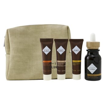 The Potion of Rebirth Set With Pouch: 1x Age Recover - Replumping Serum - 30ml/1oz + 1x Age Recover -  Replumping Rich Mask - 10ml/0.3oz + 1x Hydra Brightening Pure Radiance Rich Cleansing Milk - 10ml/0.3oz + 1x Regenerating & Velveting - Deep Massage Body Cream - 10ml/0.3oz + 1x bag (4pcs+1bag)