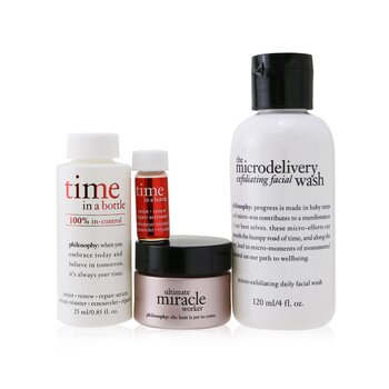 Ultimate Age-Defying Set (Repair & Rejuvenate):  Facial Wash 120ml + Serum 25ml + Activator 2ml + Cream SPF 30 15ml  (Exp. Date 04/2021) (4pcs)