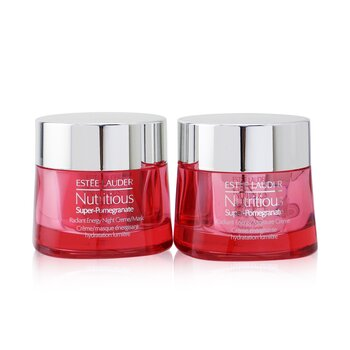 Nutritious Super-Pomegranate Day & Night Radiance Set: Moisture Creme 50ml+ Night Creme/Mask 50ml (2pcs)