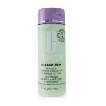 All about Clean All-In-One Cleansing Micellar Milk + Makeup Remover - Very Dry to Dry Combination (200ml/6.7oz)