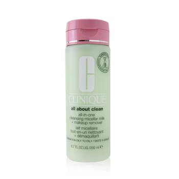 All about Clean All-In-One Cleansing Micellar Milk + Makeup Remover - Combination Oily to Oily (200ml/6.7oz)